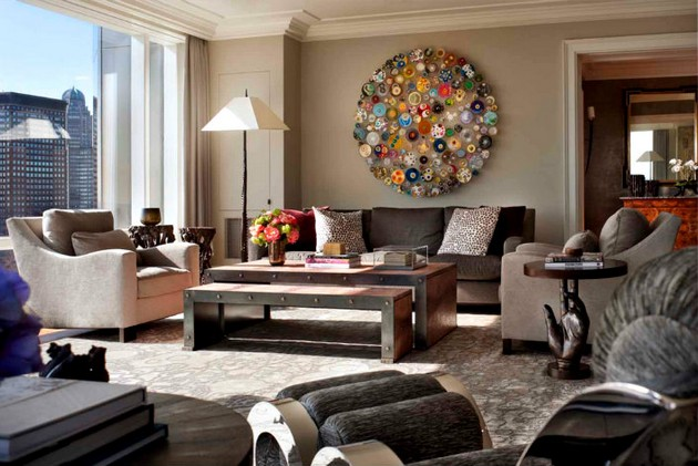 How To Use Art In Living Room Designs