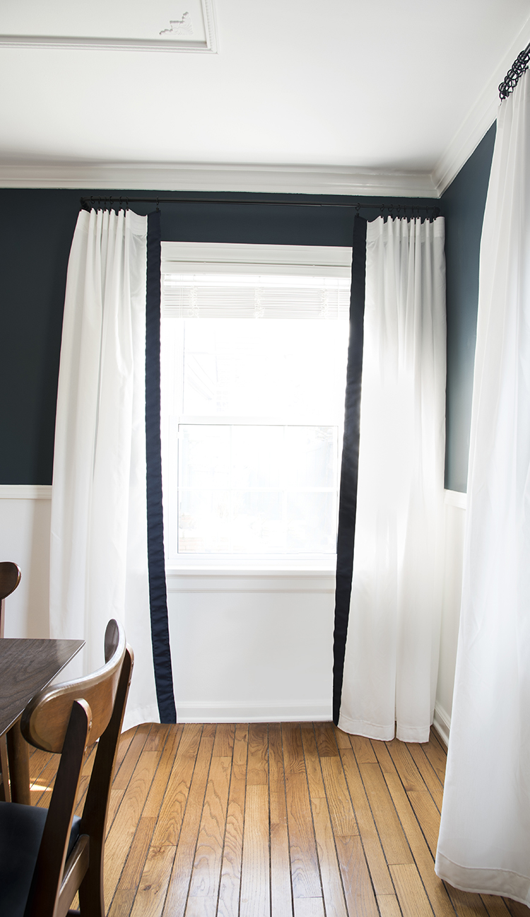 Ribbon Trim Curtains Budget Drapery Diy Room For Tuesday