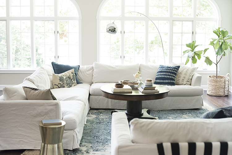 A Bright Boho Living Room Tour