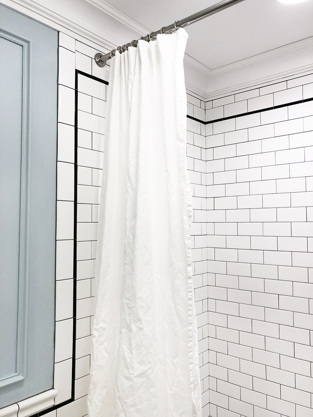 Long Shower Curtain Diy Extra Long Shower Curtain Using Ikea Curtains Room For Tuesday
