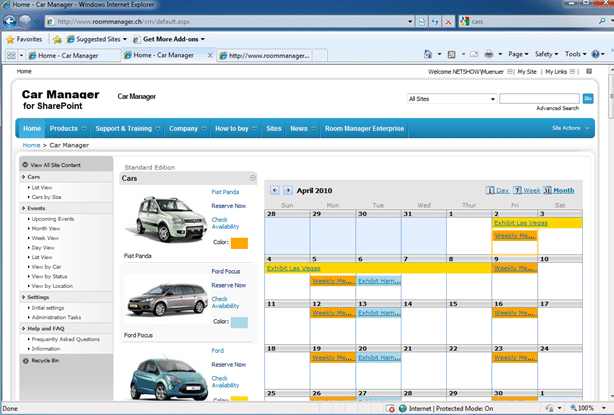 Add Reservations From Google Calendar Into Salon Booking Car Manager For Sharepoint Lets You Easily Book A Car From