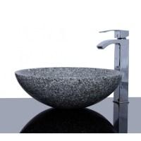 Light Grey Granite G603 Stone Round Wash Basin / Sink ...