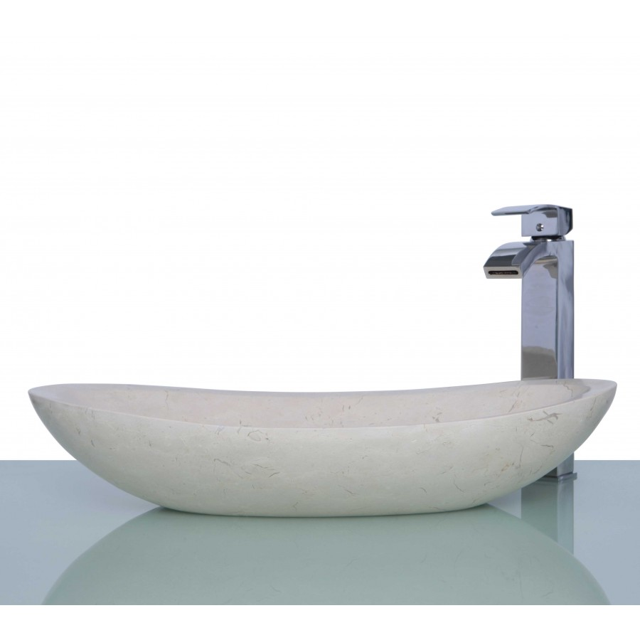 Marble Basin New Crema Marfil Marble Stone Oval Wash Basin Sink Free Waste