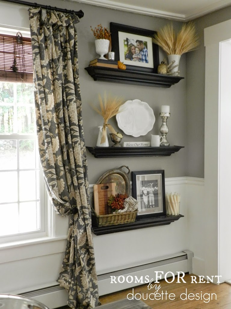 Fall home tour 2014 rooms for rent blog - Decorating shelves in living room ...