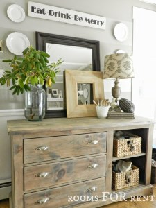 Gray Washed Dresser Reveal