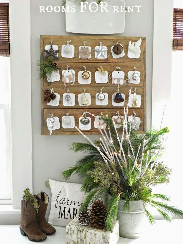 Wood planked advent calendar rooms for rent blog How to build a wooden advent calendar