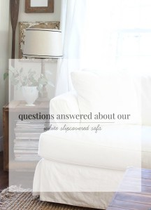 Your Questions Answered about our White Sofa