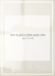 How to Pick White Paint