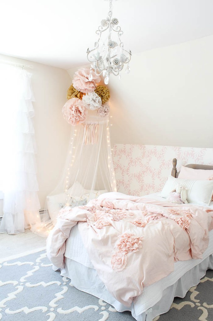 Vintage little girls room reveal rooms for rent blog - Little girls bedrooms ...