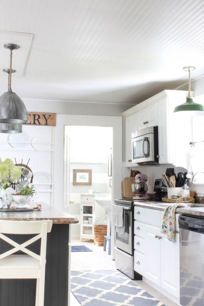 Kitchen Ceiling Wallpaper REVEALED - Rooms For Rent blog