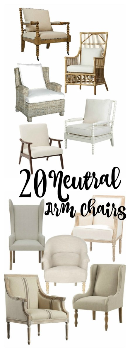 20 Neutral Arm Chairs Your Room Needs