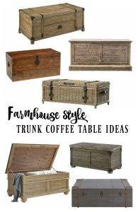 Farmhouse Style Wooden Trunk Coffee Table Ideas