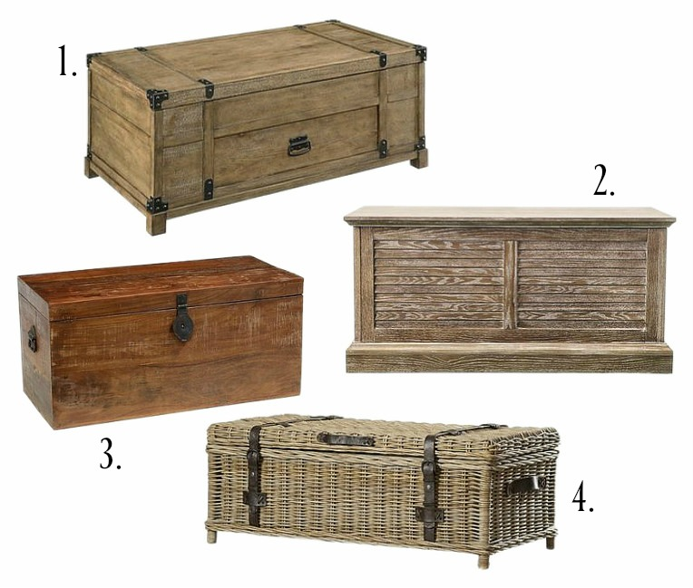Farmhouse Style Trunk Coffee Table Ideas | Rooms FOR Rent Blog