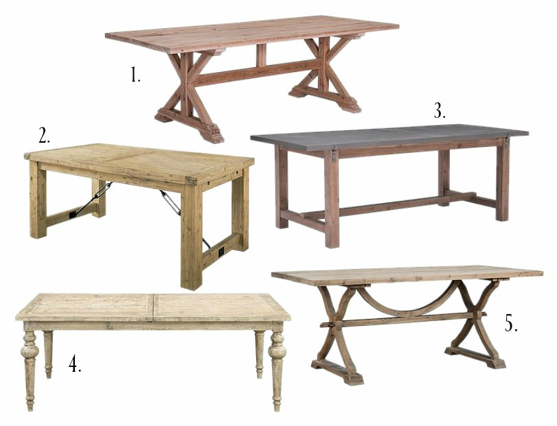 10 Farmhouse Style Dining Tables | Room FOR Rent Blog