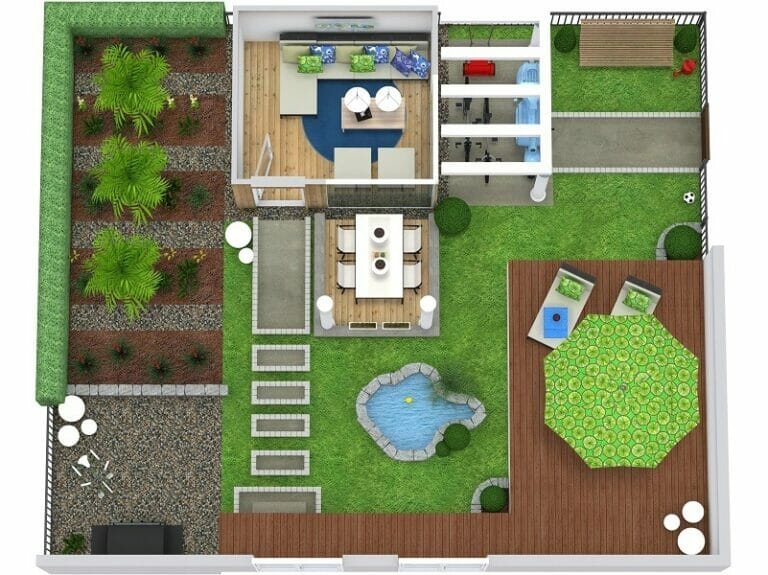 Roomsketcher Outdoor 3d Site Plans | Roomsketcher
