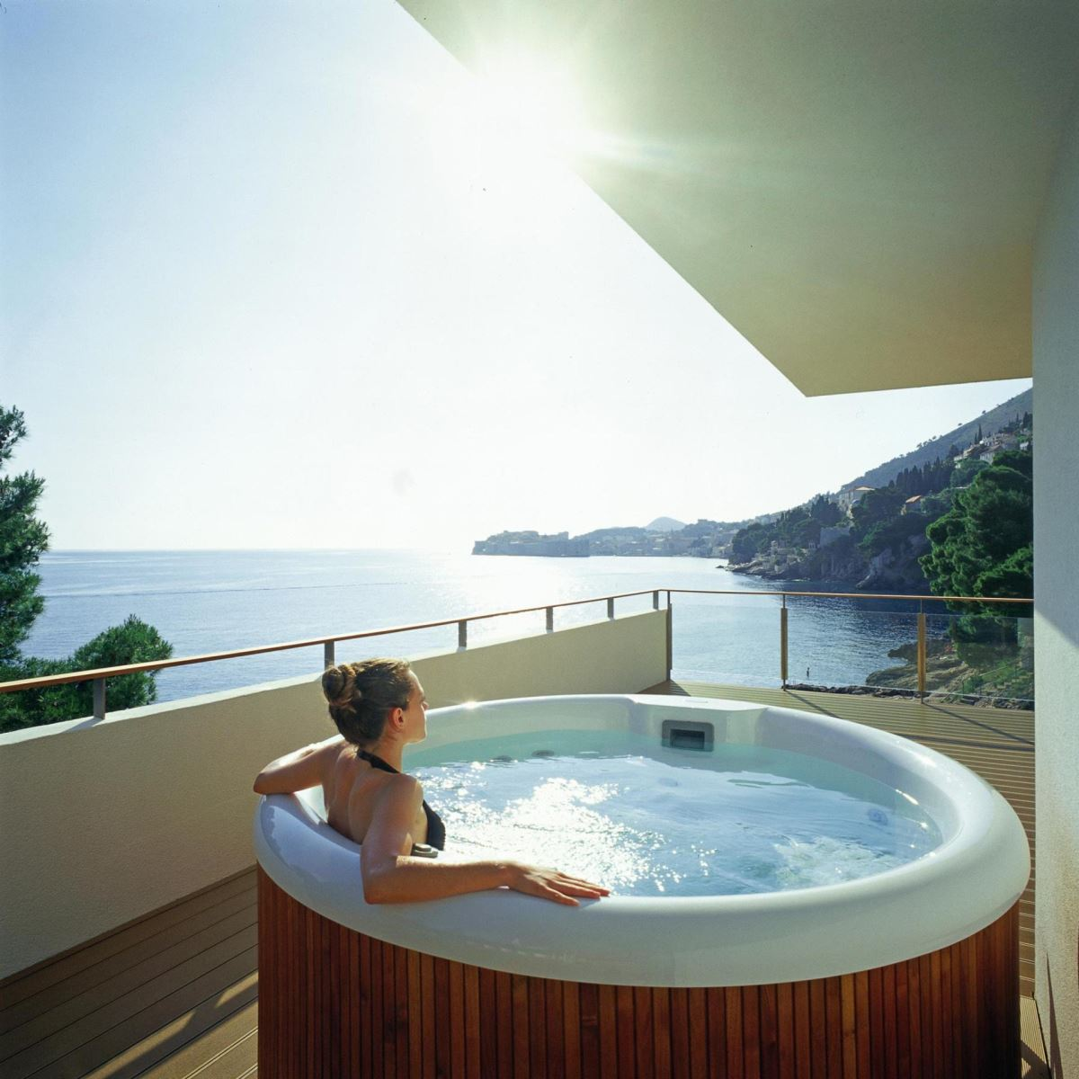 Jacuzzi Exterieur Hotel Room With A View Villa Dubrovnik Royal Suite