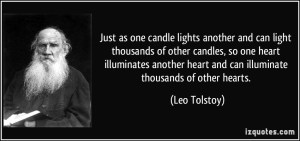just as one candle