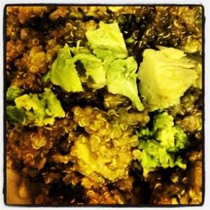 Quinoa with Avocado and Corn