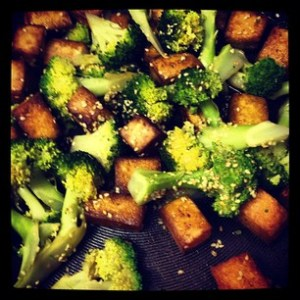 Sesame Broccoli and Tofu