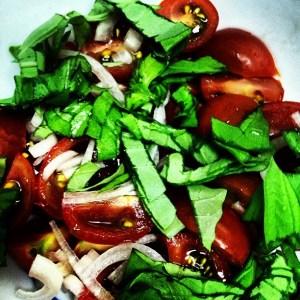 Cherry Tomato and Basil Fragrant Salad