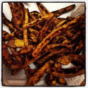 Sweet Potato Fries in basket