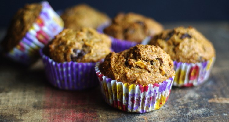 Sweet Potato Banana Chocolate Muffins