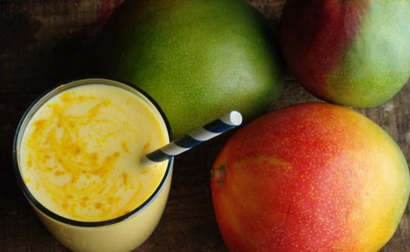 carrot mango turmeric lassi
