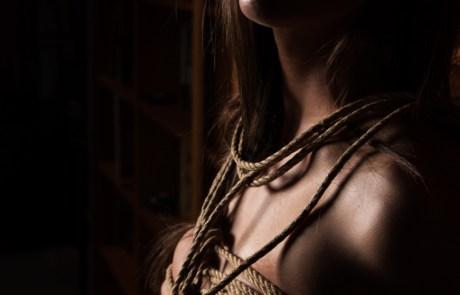 Feeling the rope shibari bondage moment