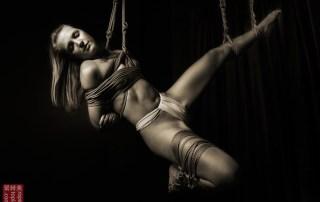 Shibari suspension bondage face up