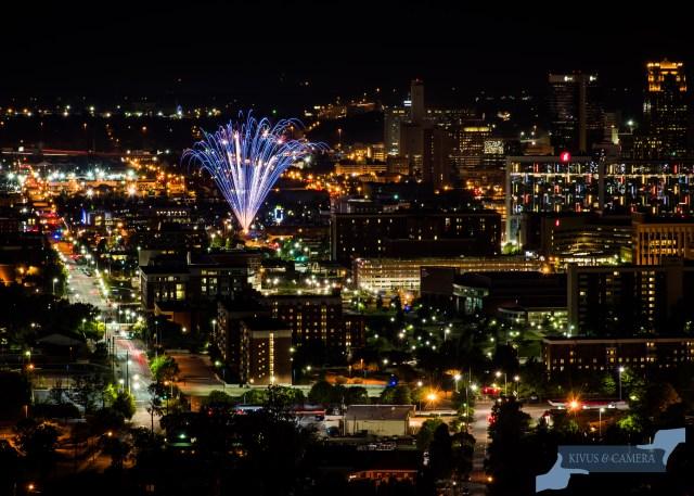 Fireworks over Birmingham by Elyssa