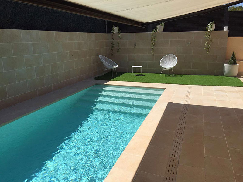 Piscina Gresite Blanco What Color Will My Pool's Water Be? | Rosa Gres