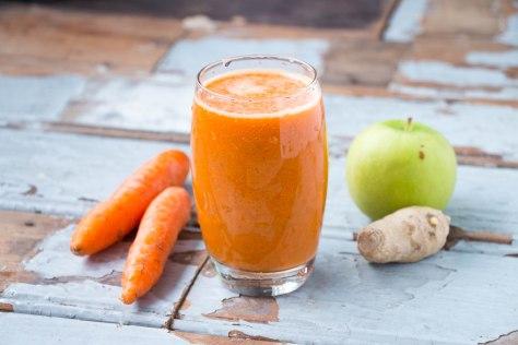 Carrot + Ginger + Apple Juice