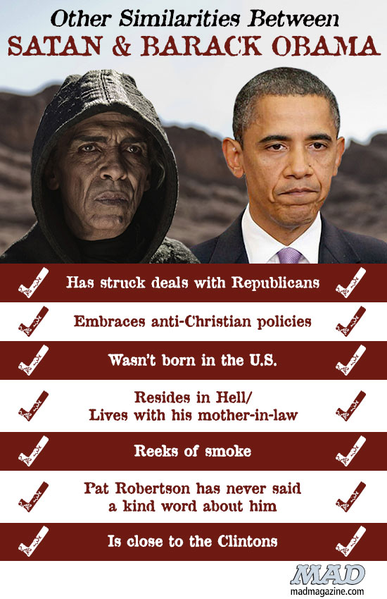 ... really is Satan, and not the evil leader of the Democratic Party