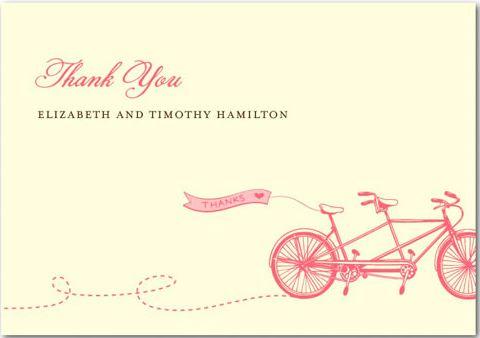 Cartão de agradecimento para os convidados do casamento Rosângela