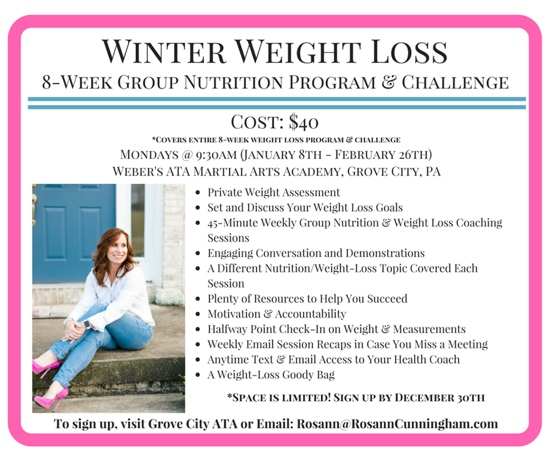 Ready to start your weight loss journey in 2018? - Rosann Cunningham