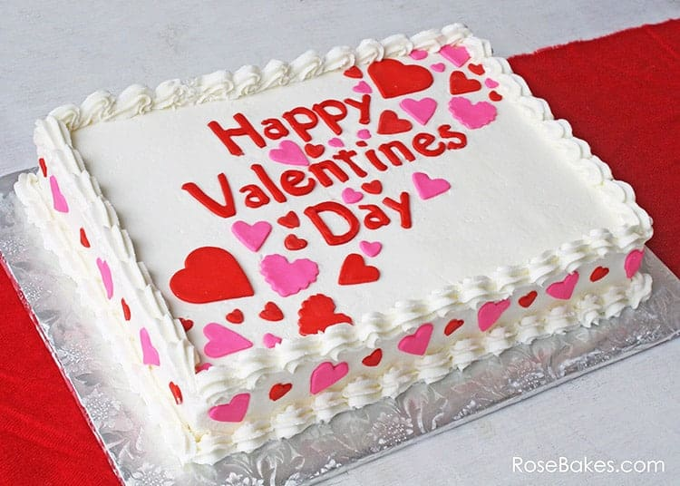 Happy Valentine39s Day A Simple Valentines Sheet Cake