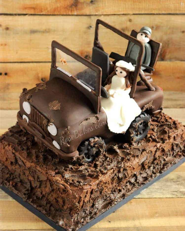 Kuchef Air Fryer Mud-riding Jeep Groom's Cake - Rose Bakes