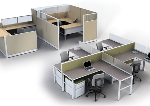 Cubicles Workstations Portland Rose City Office