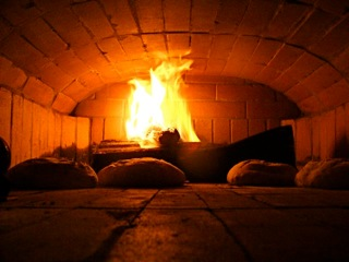 Oven bread baking