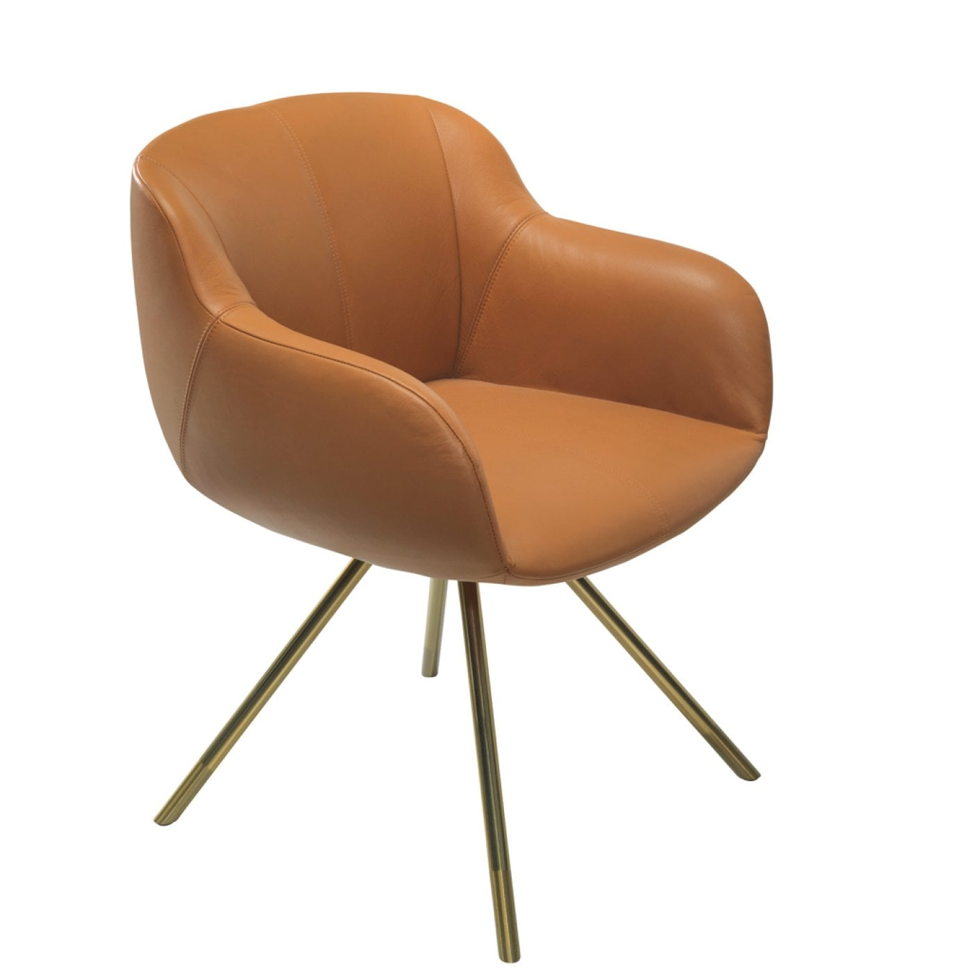 Sessel Cognac Shell Cognac Leather Armchair Rosenthal Porcelain Online Shop