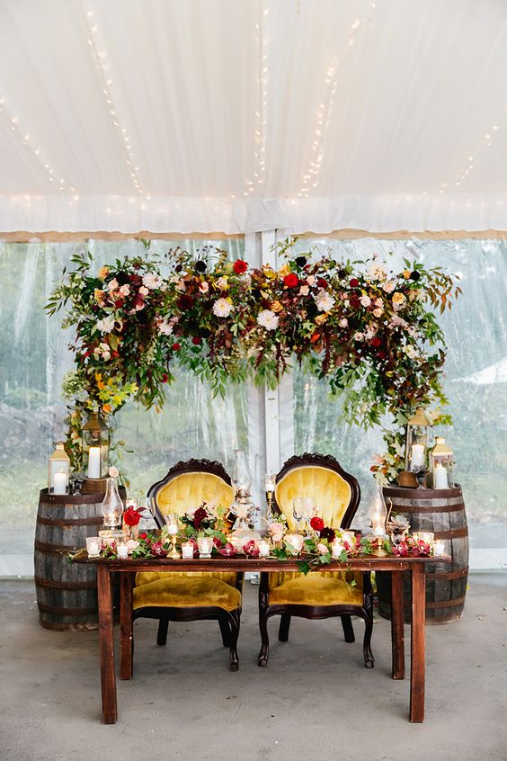 Lifestyle Blog Post Ideas 2018 20 Fall Wedding Reception – Sweetheart Table Ideas Roses