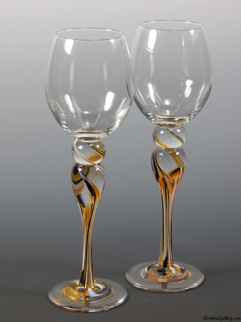 Black Wine Goblets Wine Goblets Rosetree Blown Glass