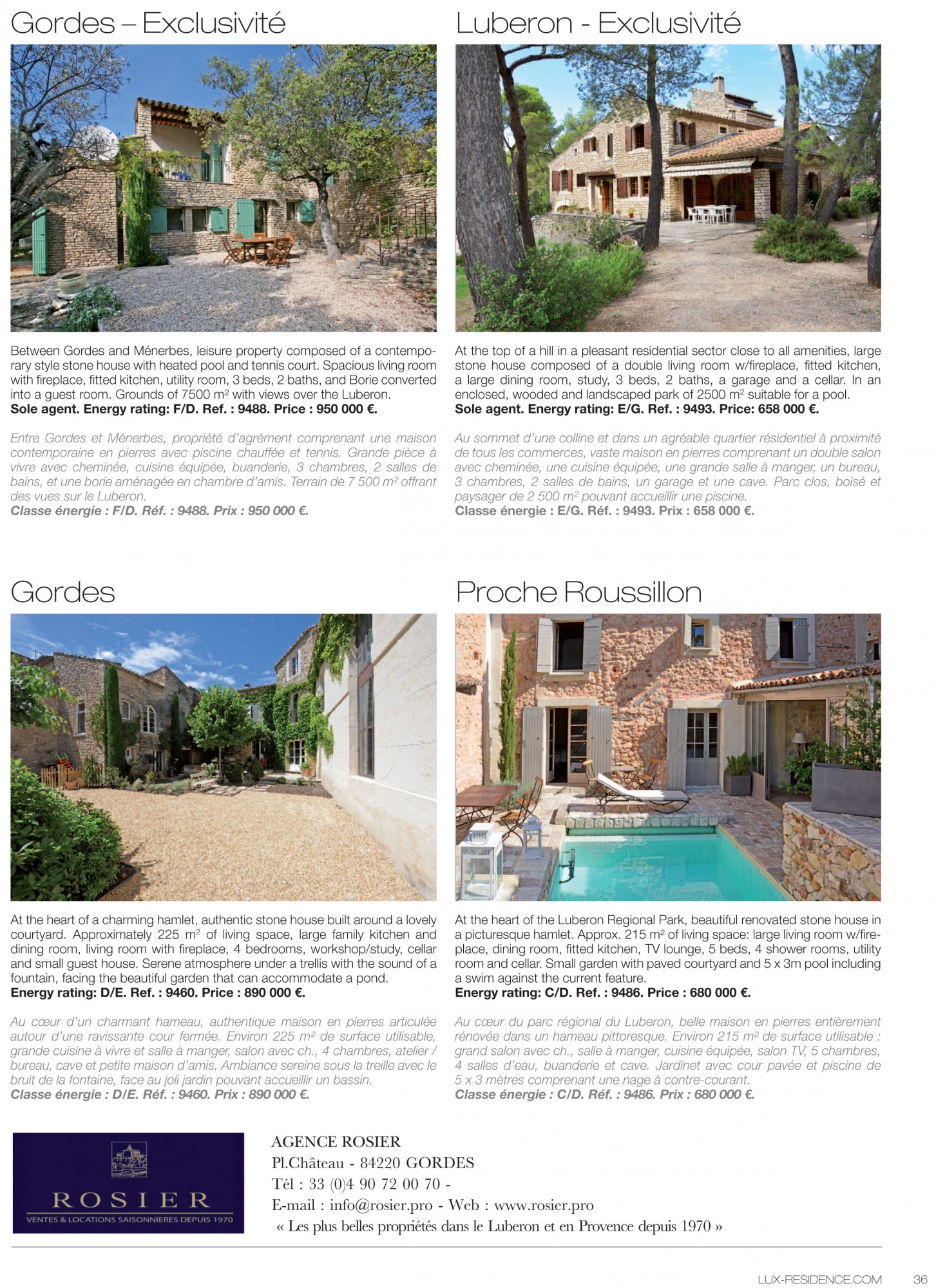Cheminee Du Luberon Lux Residence Luxurious Real Estate Magazine Rosier