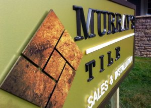 Raised Channel Letter Signage - Murray's Tile
