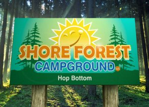 Full Color Printed Alumalite Shore Forest Campground