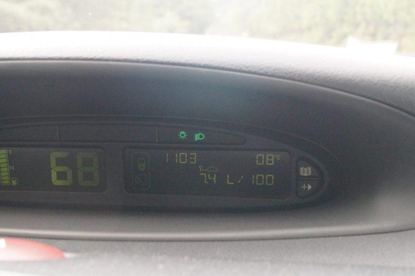 Termômetro do carro ao sair de Gramado