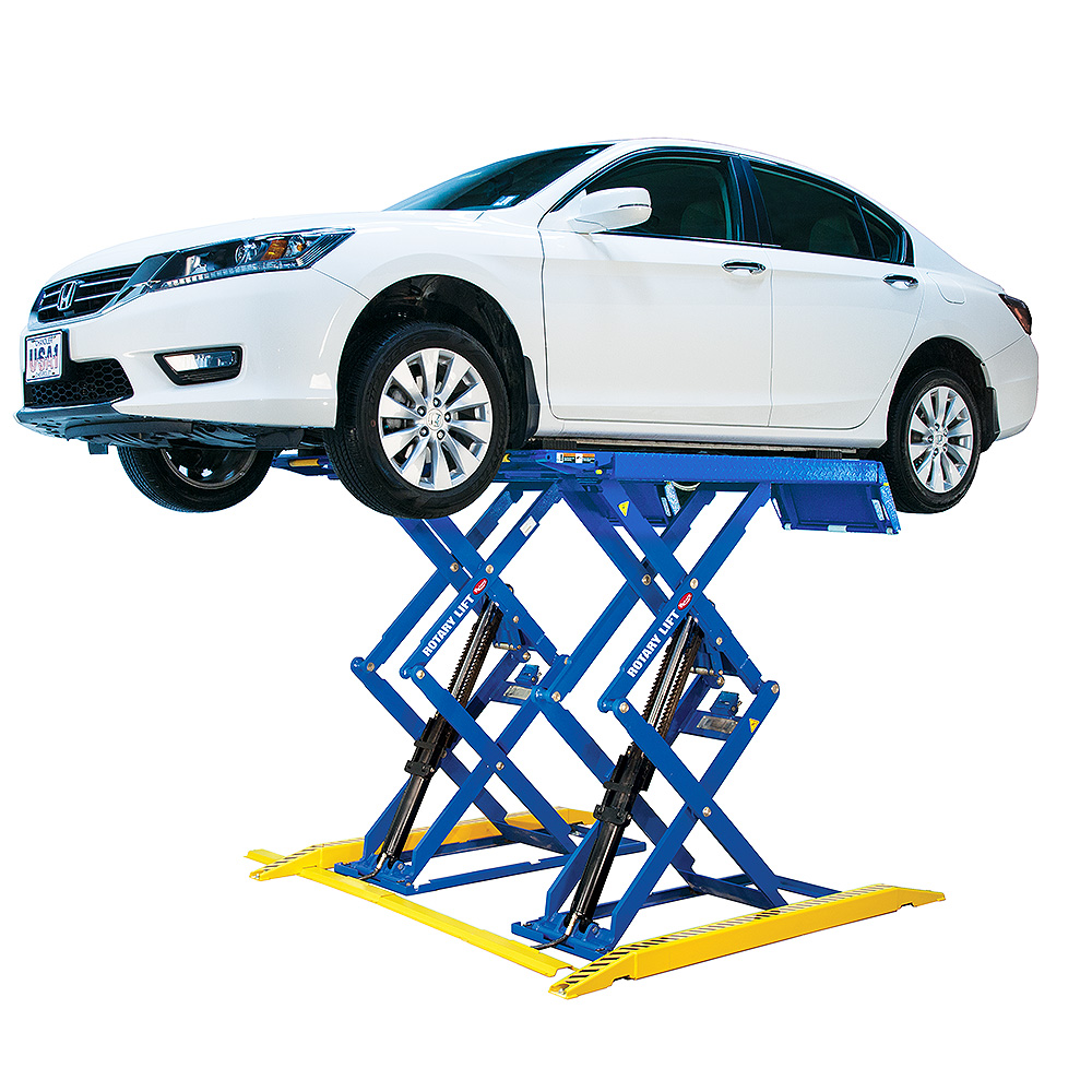 In Ground Garage Car Lift Rlp77 7 700 Lb Scissor Car Lift Rotary Lift