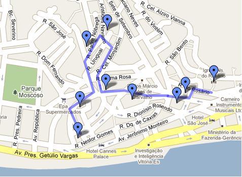 Mapa do Centro Histórico de Vitória