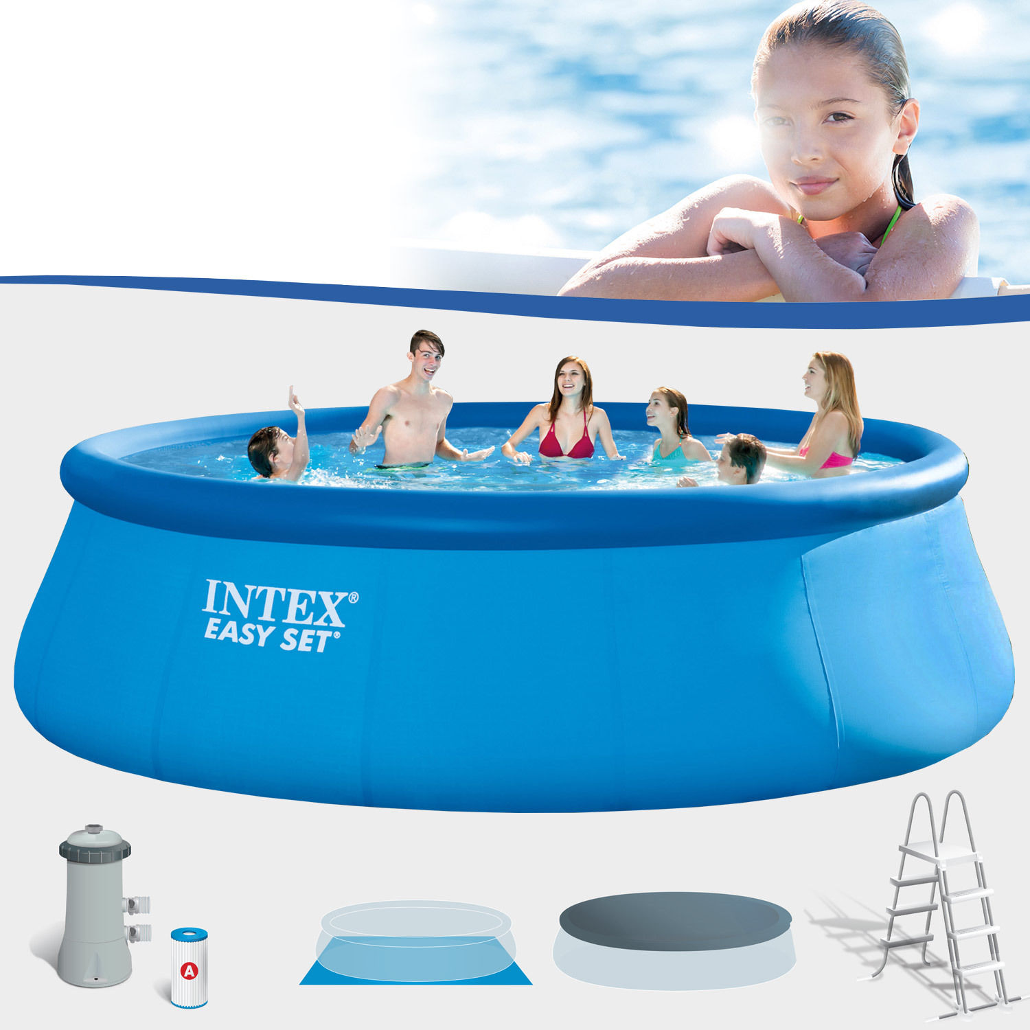 Piscina Intex Rotonda Piscina Gonfiabile Intex 28168 26168 Easy Rotonda 43 Pompa