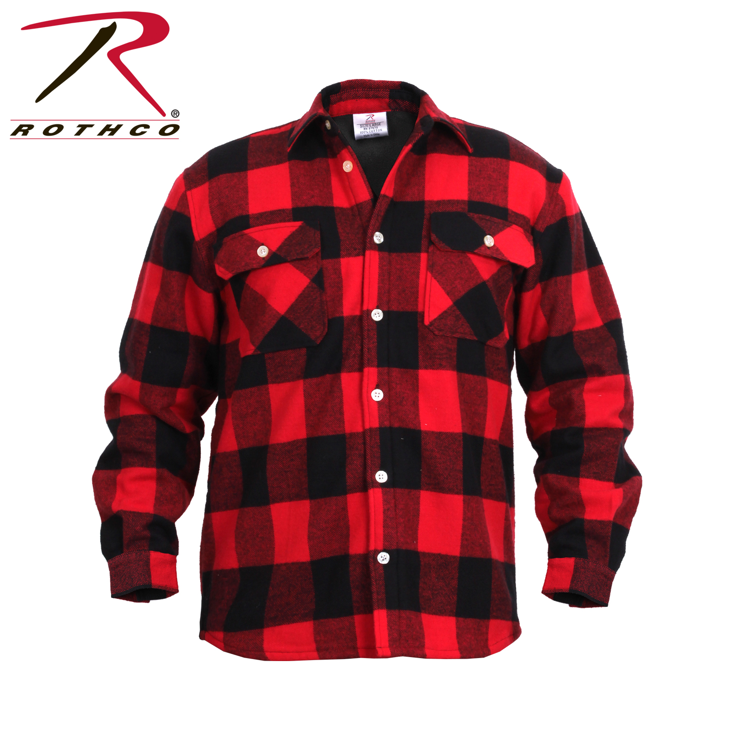 Bettwäsche Flanell Fleece Rothco 2739 Fleece Lined Flannel Shirt Red Plaid Ebay